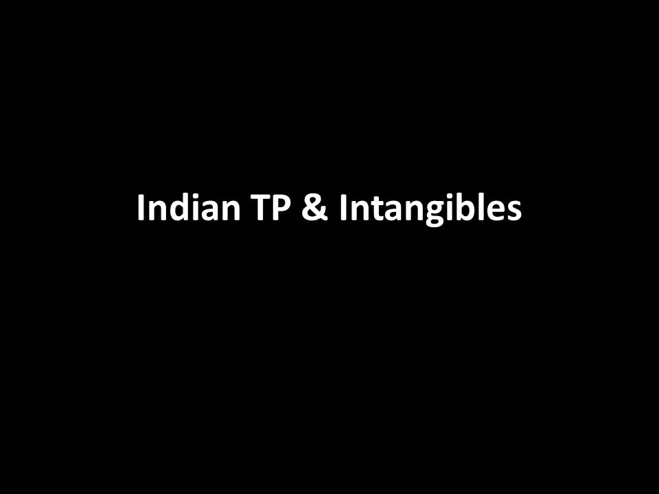 Indian TP & Intangibles