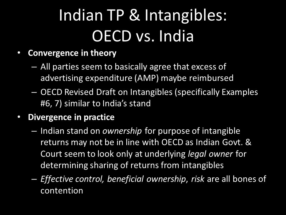 Indian TP & Intangibles: OECD vs. India