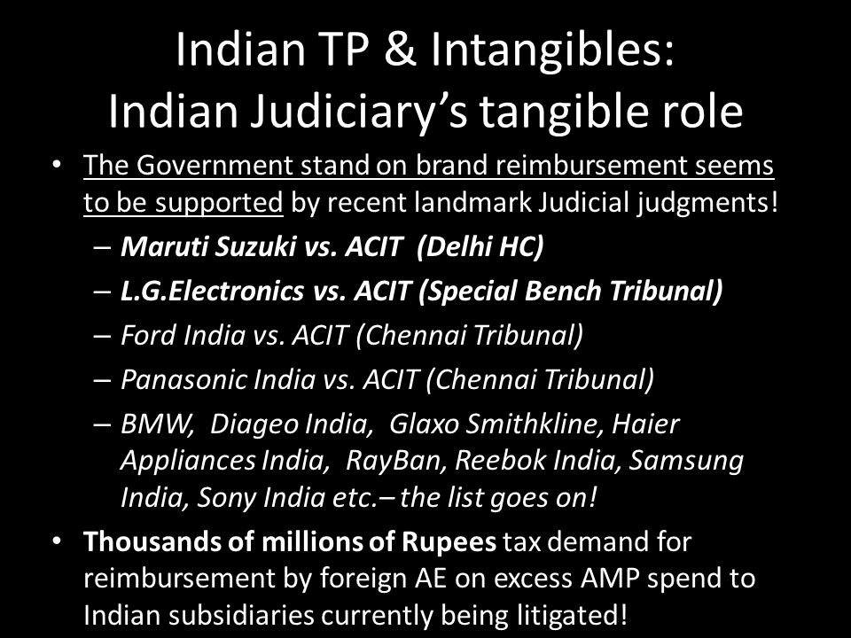 Indian TP & Intangibles: Indian Judiciary's tangible role