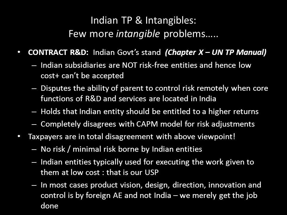 Indian TP & Intangibles: Few more intangible problems…..