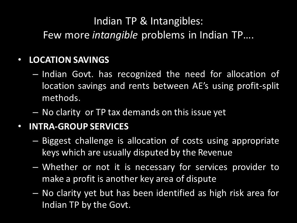 Indian TP & Intangibles: Few more intangible problems in Indian TP….
