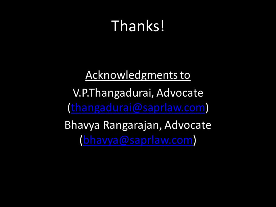 Thanks! Acknowledgments to