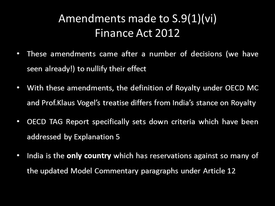 Amendments made to S.9(1)(vi) Finance Act 2012