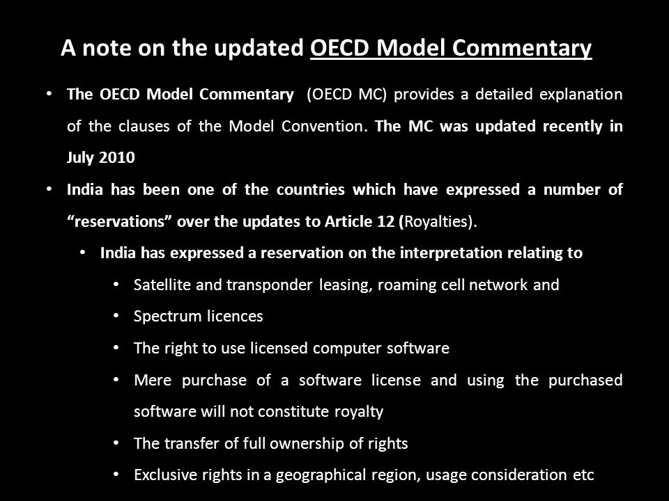 A note on the updated OECD Model Commentary