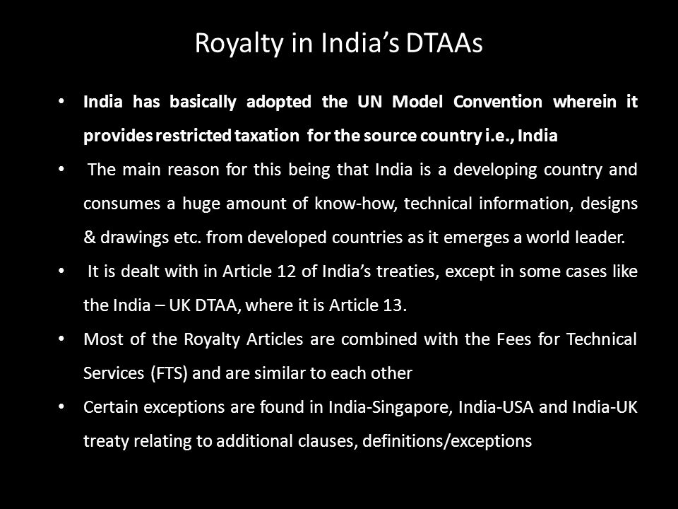 Royalty in India's DTAAs