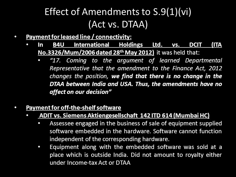 Effect of Amendments to S.9(1)(vi)