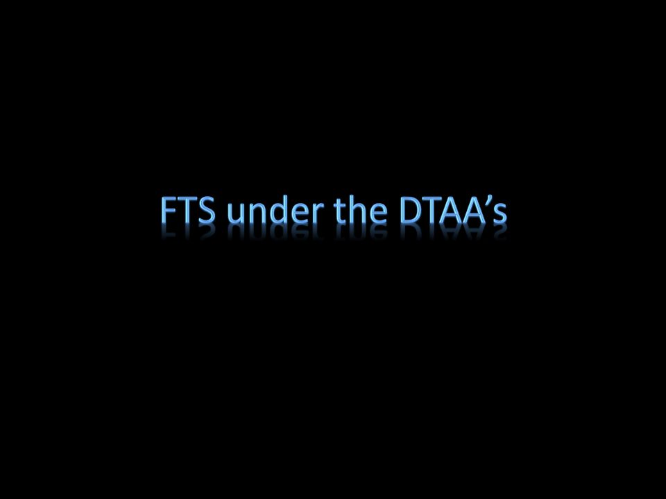FTS under the DTAA's
