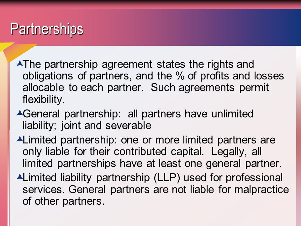 Partnerships