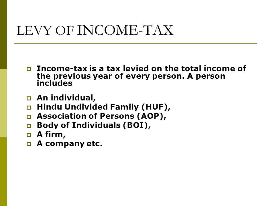 person income tax