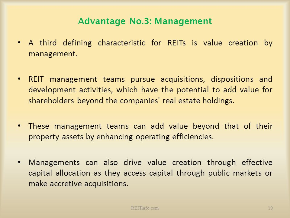 Advantage No.3: Management