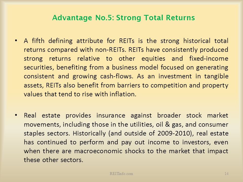 Advantage No.5: Strong Total Returns