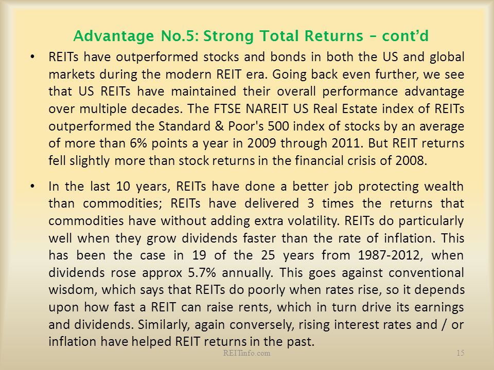Advantage No.5: Strong Total Returns – cont'd