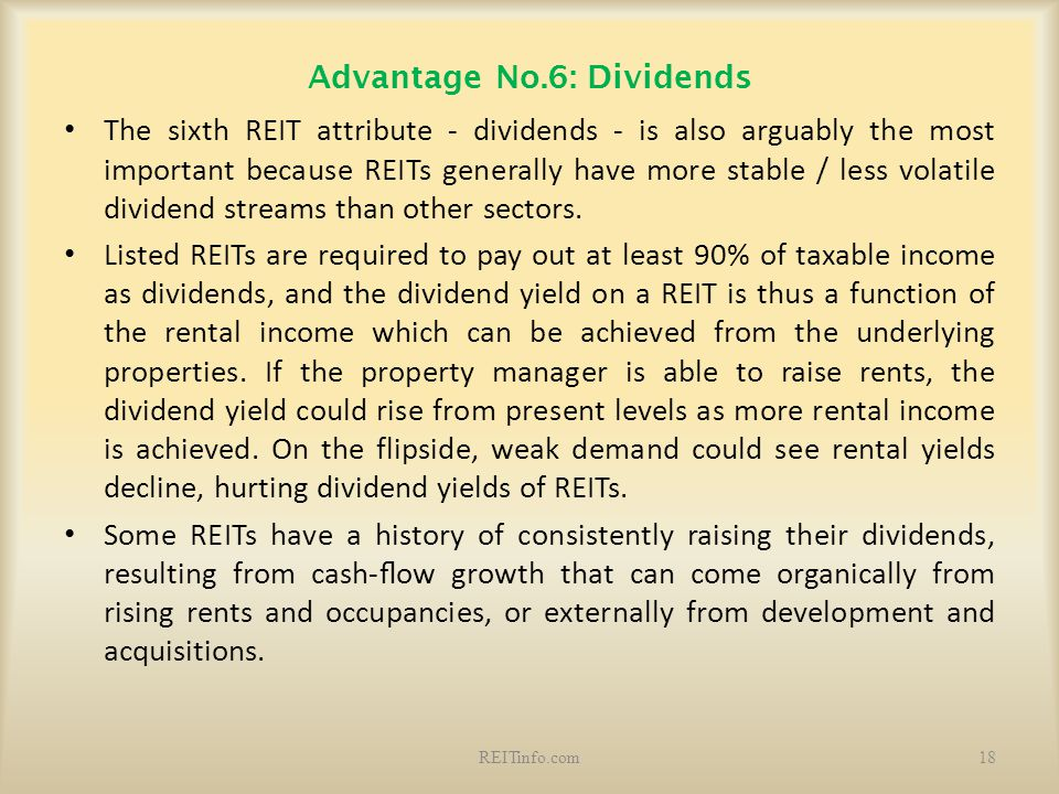 Advantage No.6: Dividends