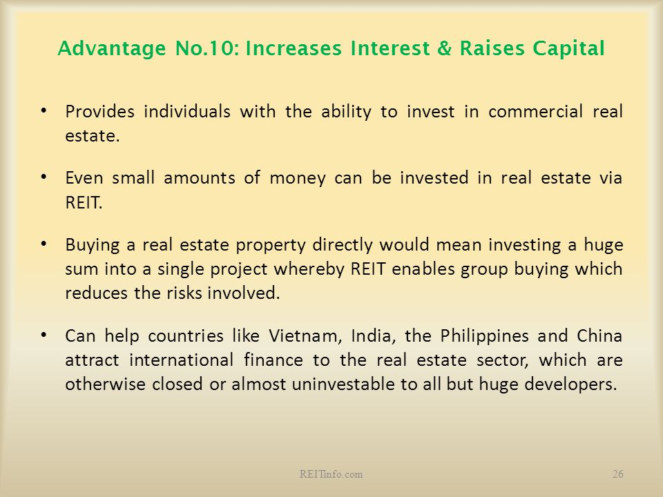 Advantage No.10: Increases Interest & Raises Capital