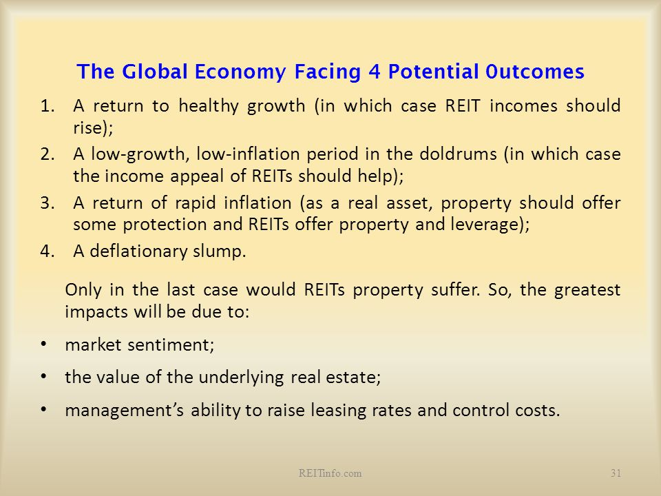 The Global Economy Facing 4 Potential 0utcomes