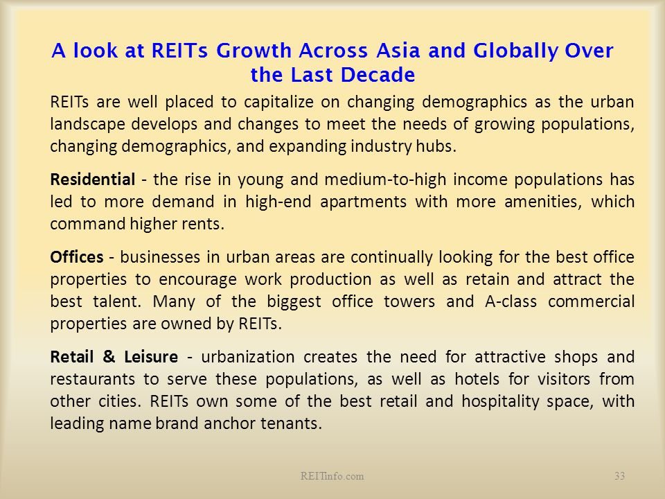 A look at REITs Growth Across Asia and Globally Over the Last Decade
