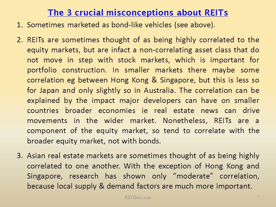 The 3 crucial misconceptions about REITs