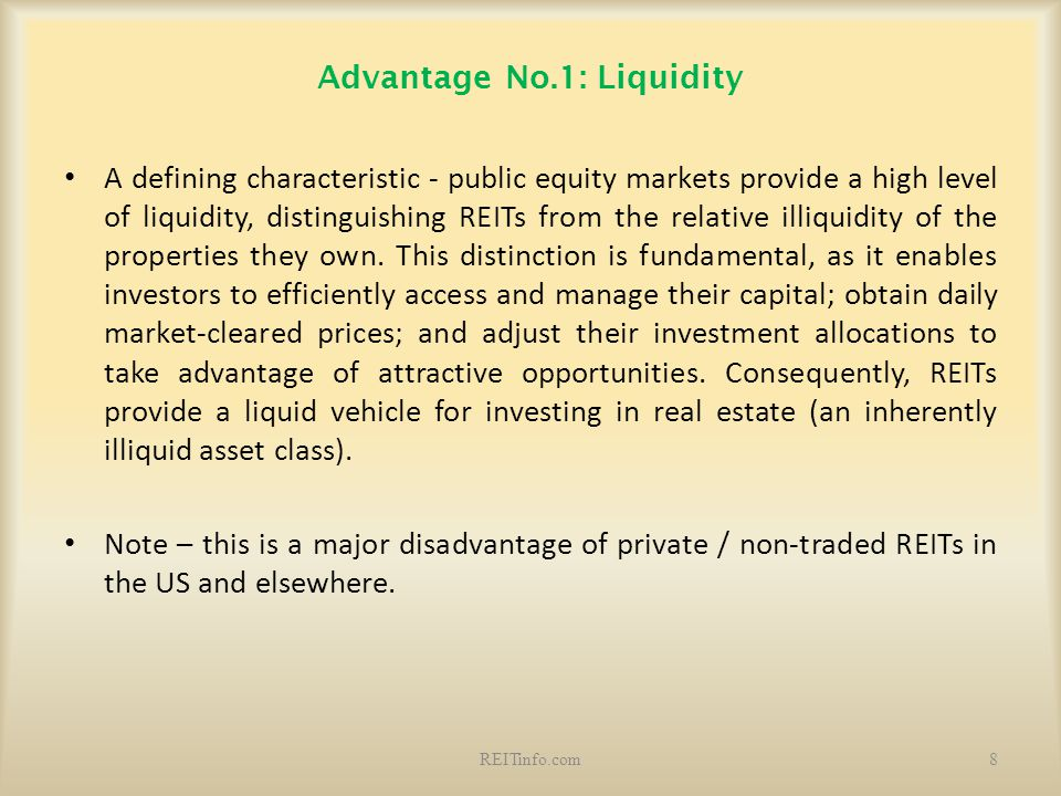 Advantage No.1: Liquidity