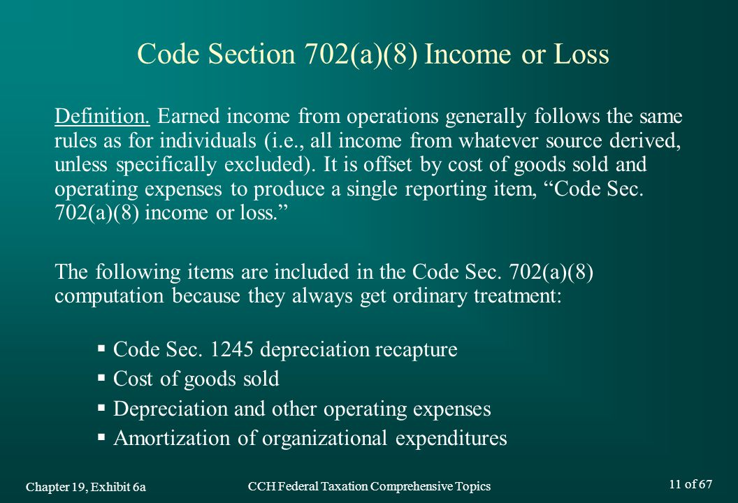 Code Section 702(a)(8) Income or Loss