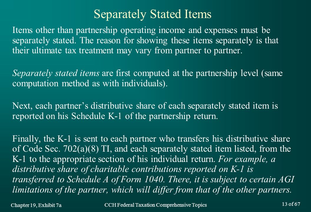 Separately Stated Items
