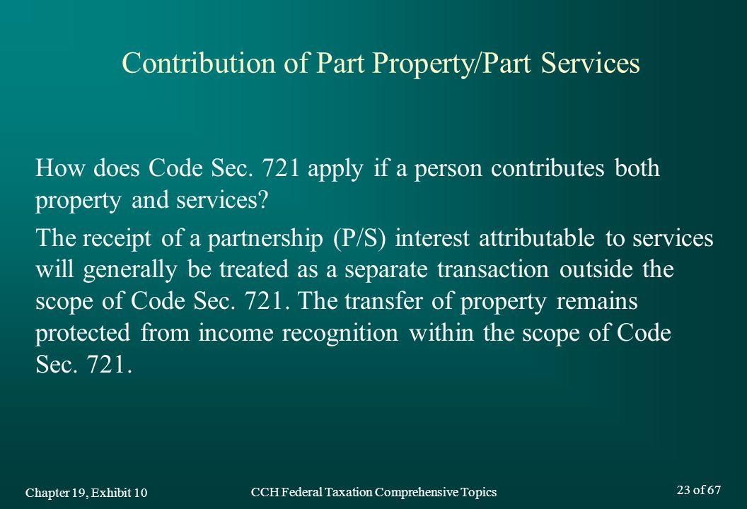 Contribution of Part Property/Part Services