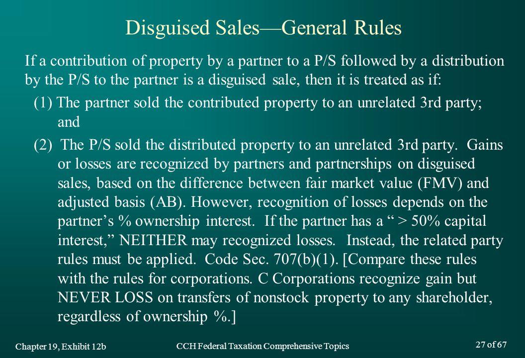 Disguised Sales—General Rules
