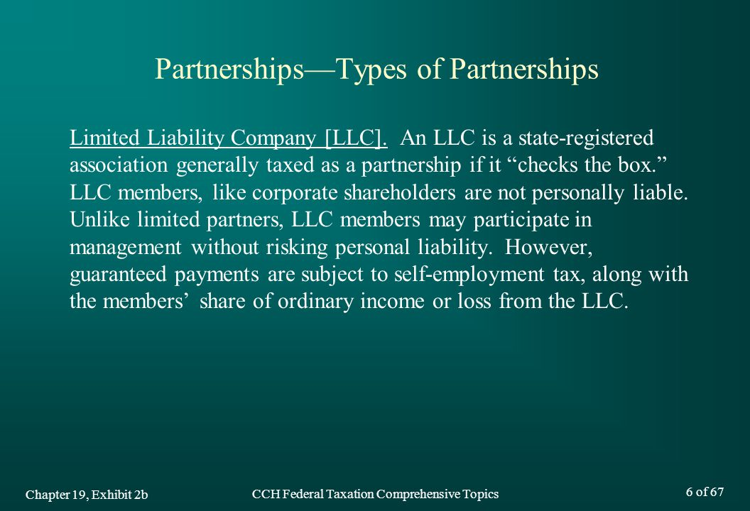 Partnerships—Types of Partnerships
