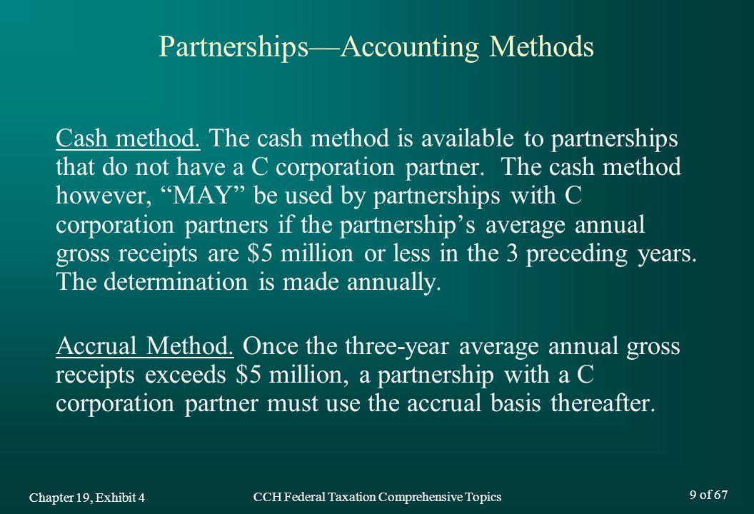 Partnerships—Accounting Methods