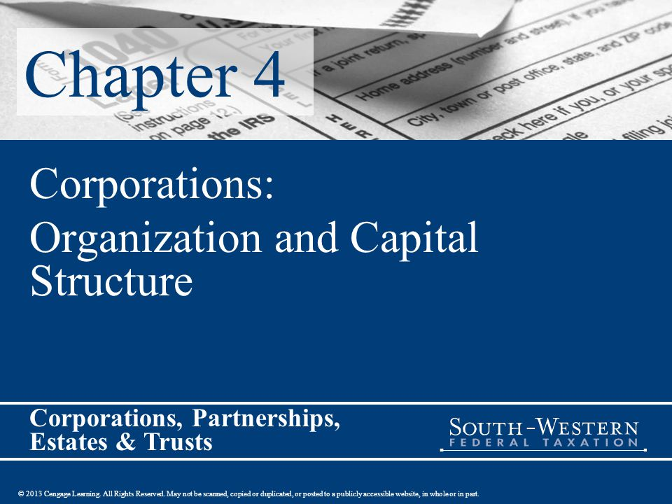 Corporations: Organization and Capital Structure