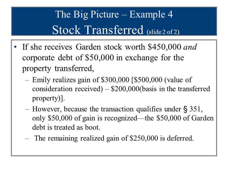 The Big Picture – Example 4 Stock Transferred (slide 2 of 2)
