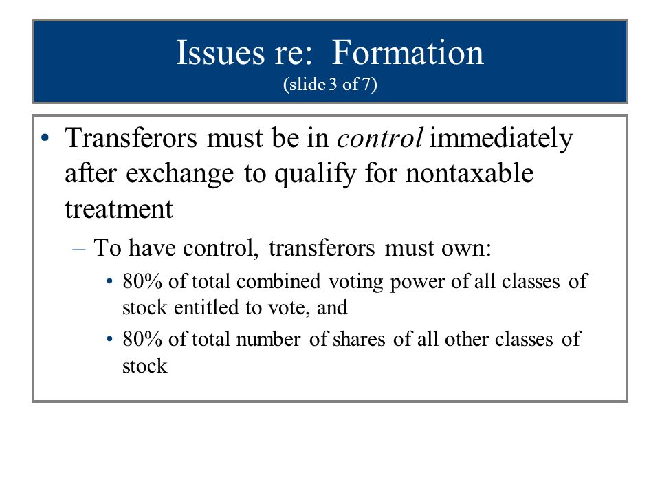 Issues re: Formation (slide 3 of 7)