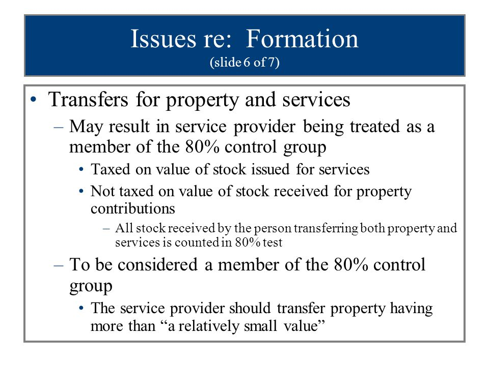Issues re: Formation (slide 6 of 7)