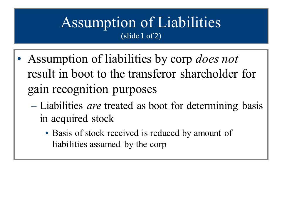 Assumption of Liabilities (slide 1 of 2)
