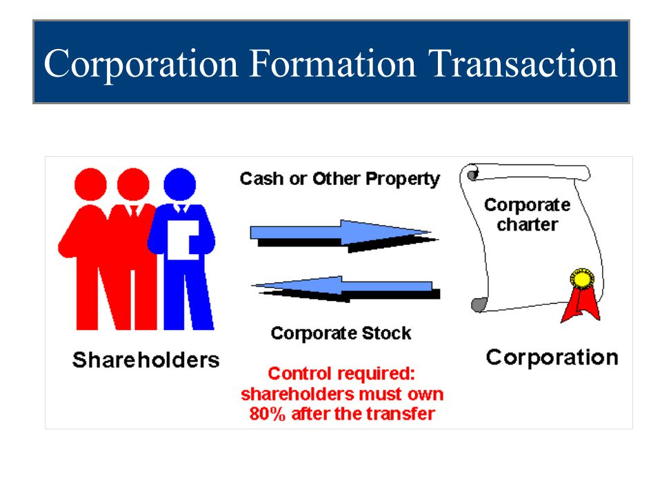 Corporation Formation Transaction