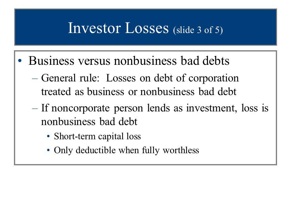 Investor Losses (slide 3 of 5)
