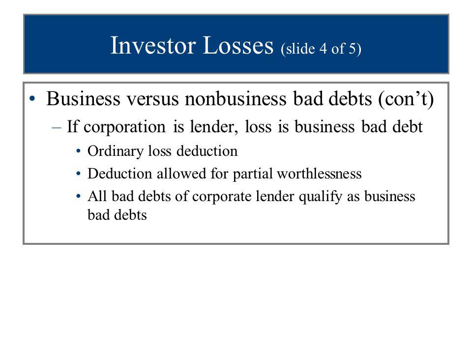 Investor Losses (slide 4 of 5)