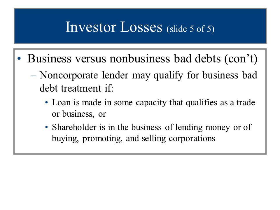 Investor Losses (slide 5 of 5)