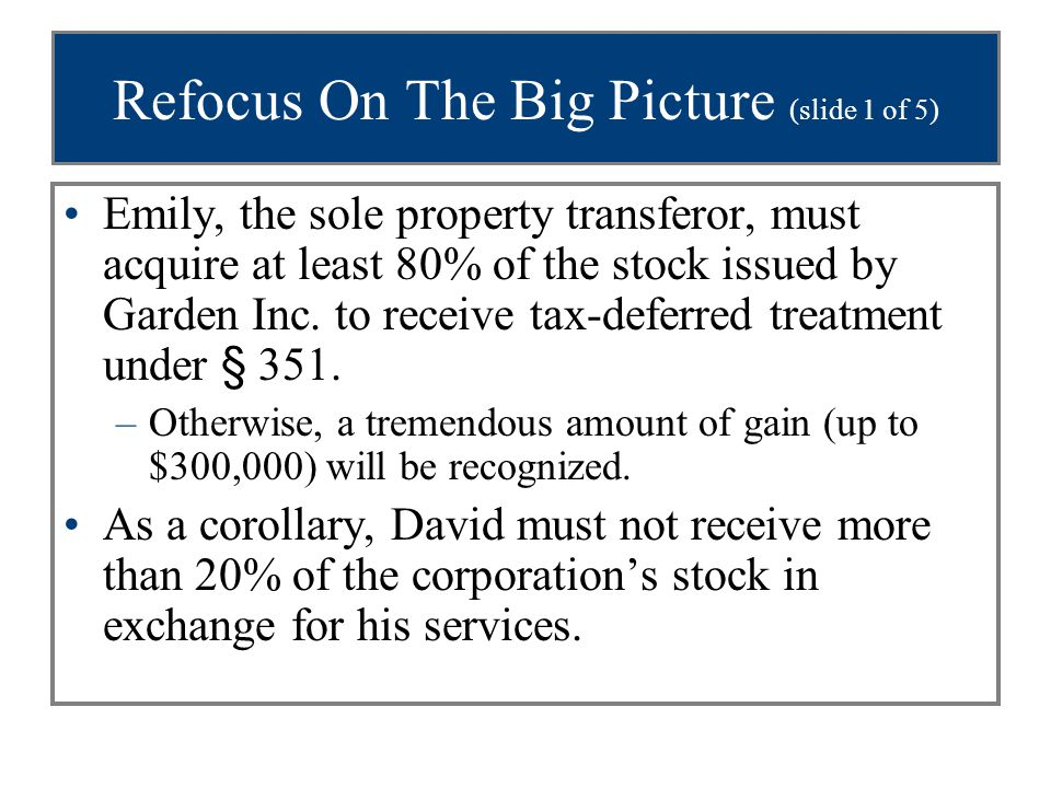 Refocus On The Big Picture (slide 1 of 5)