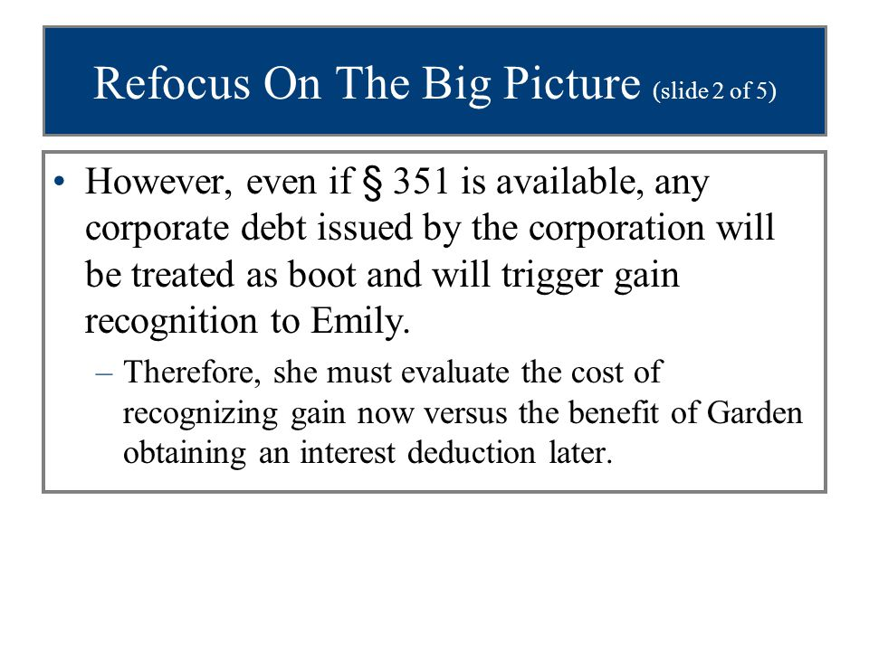 Refocus On The Big Picture (slide 2 of 5)