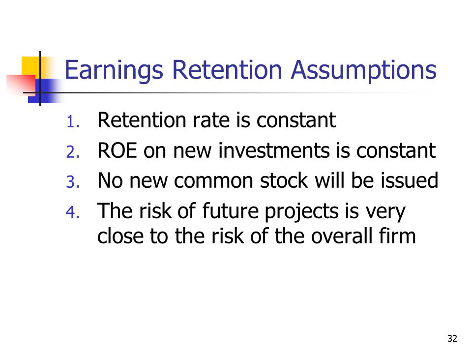 Earnings Retention Assumptions