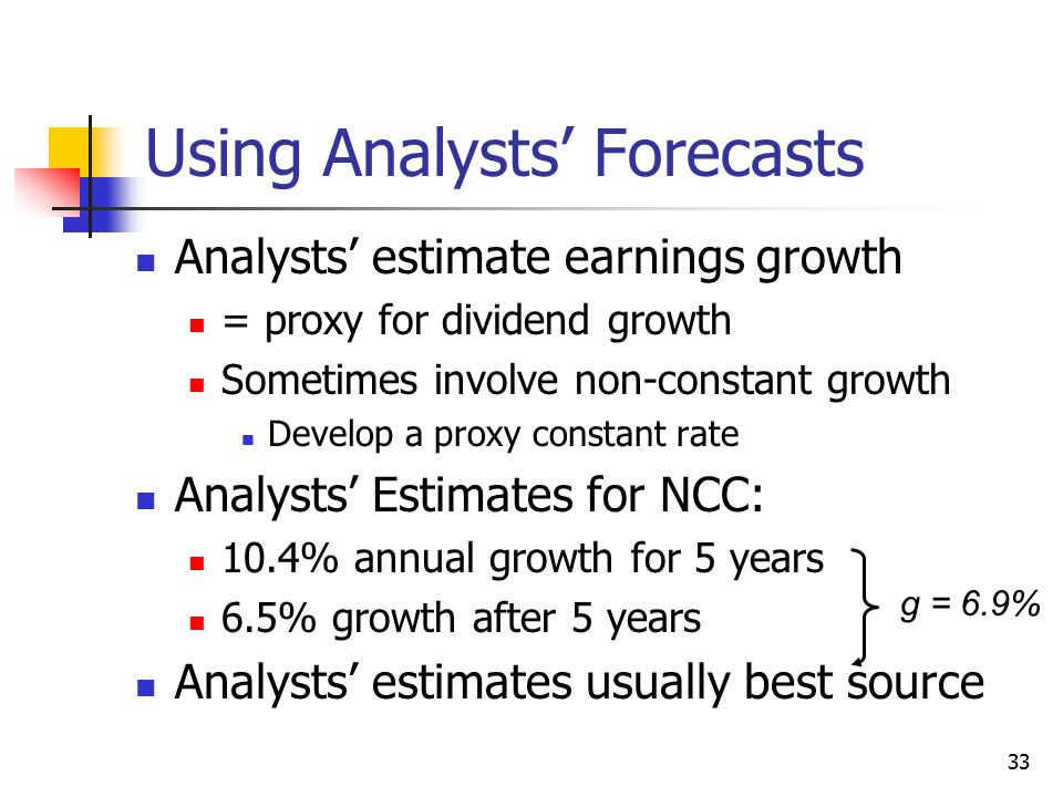 Using Analysts' Forecasts