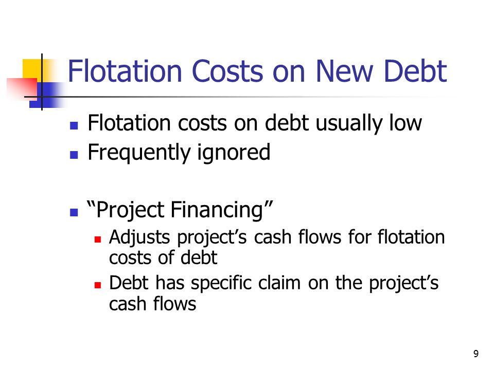 Flotation Costs on New Debt