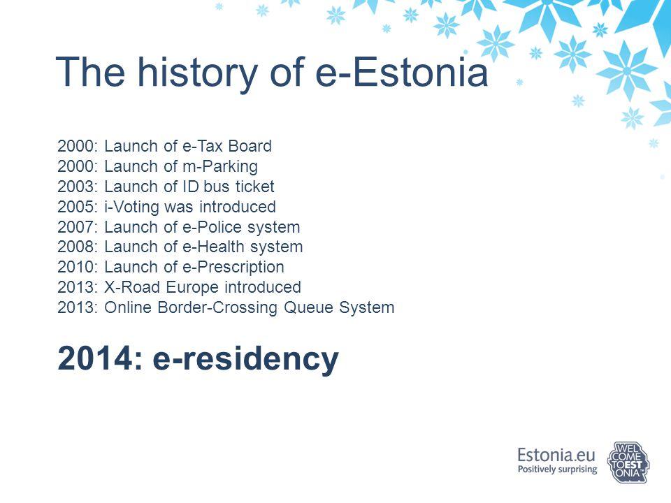 The history of e-Estonia
