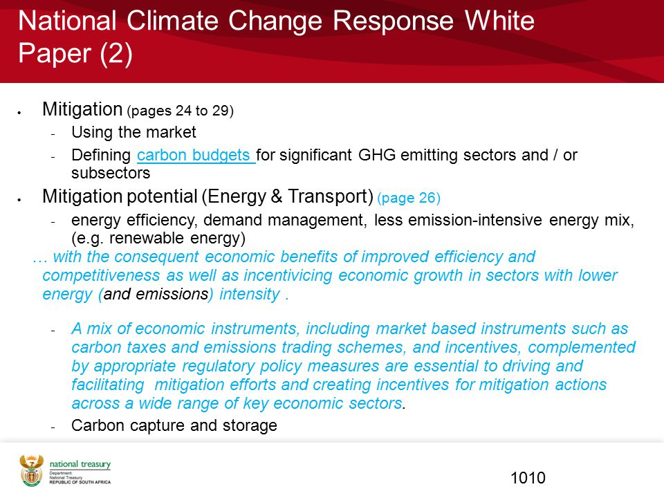 National Climate Change Response White Paper (2)