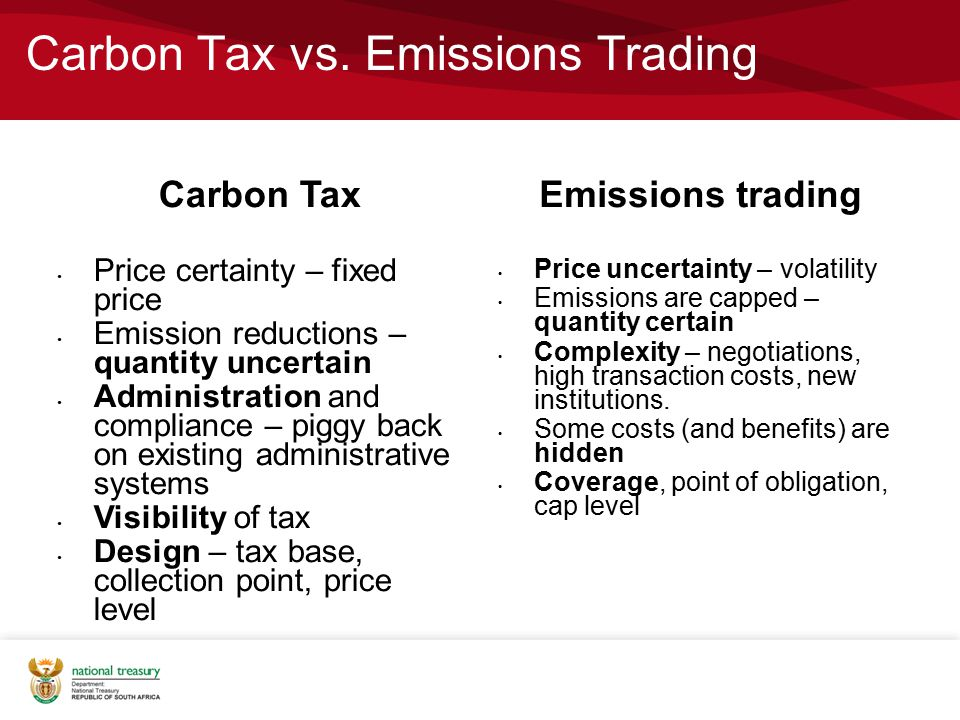 Carbon Tax vs. Emissions Trading