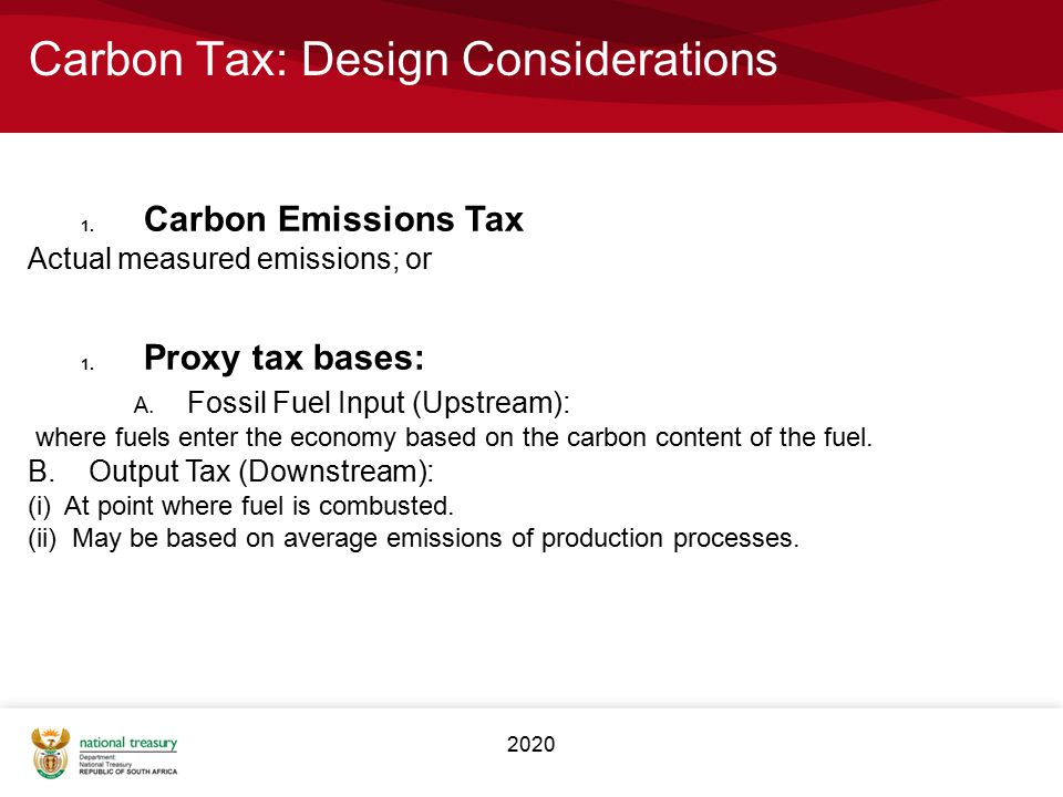 Carbon Tax: Design Considerations
