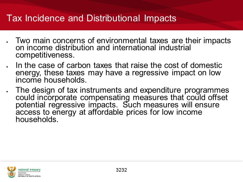 Tax Incidence and Distributional Impacts