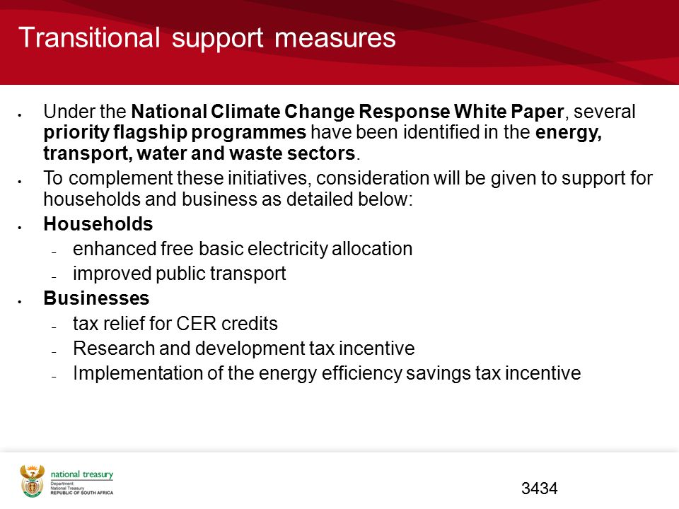 Transitional support measures
