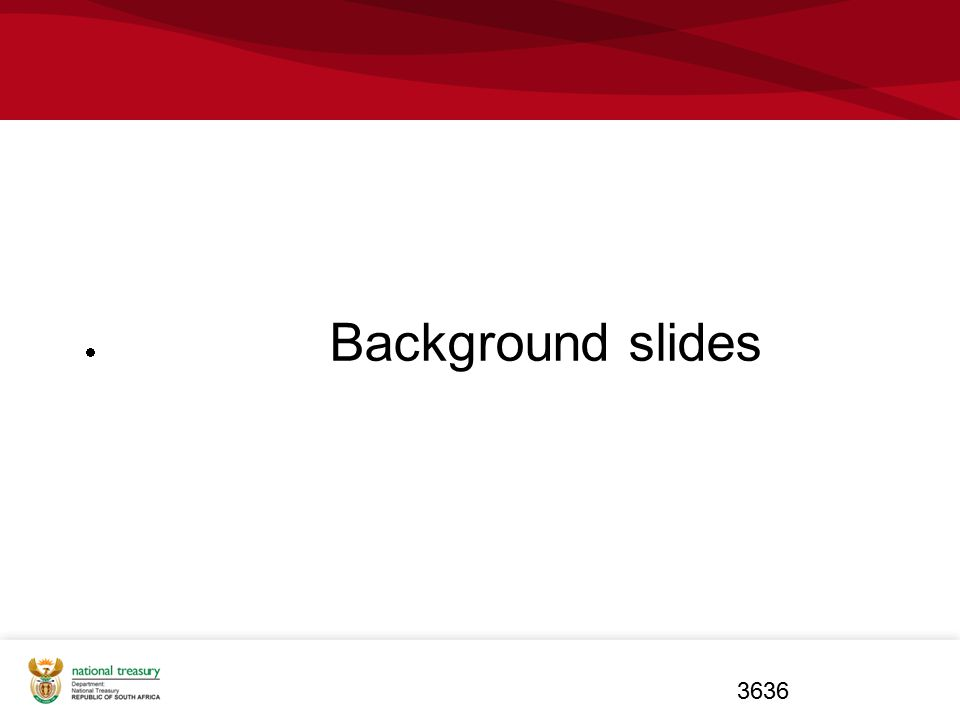 Background slides Background slides Background slides 3636