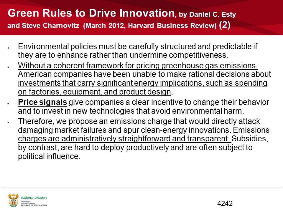 Green Rules to Drive Innovation, by Daniel C